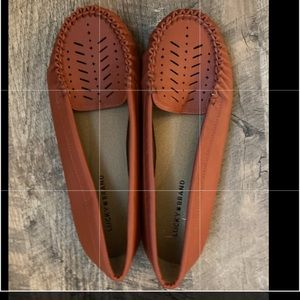 NWOT Lucky Brand rust colored loafers 10